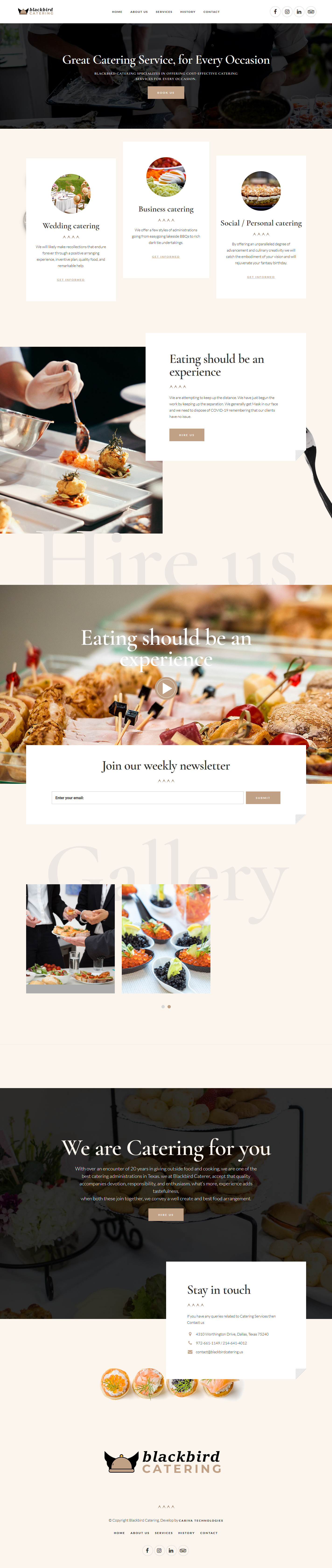 catering service website