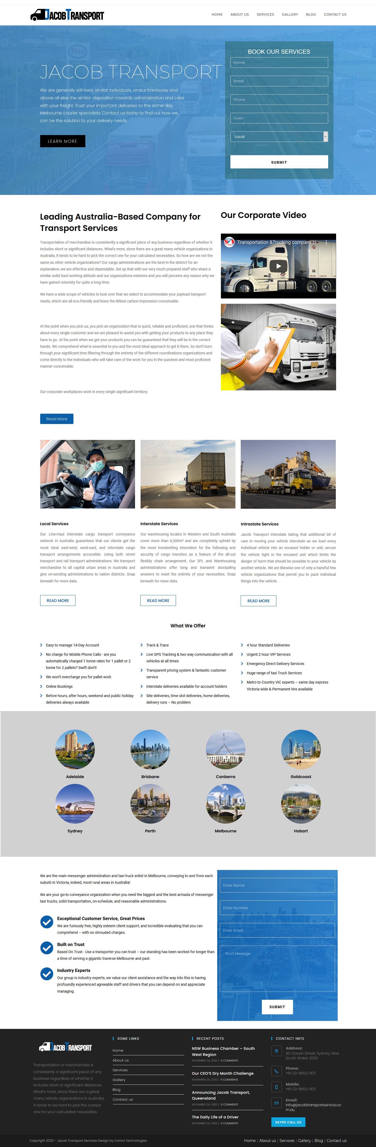 transport service website